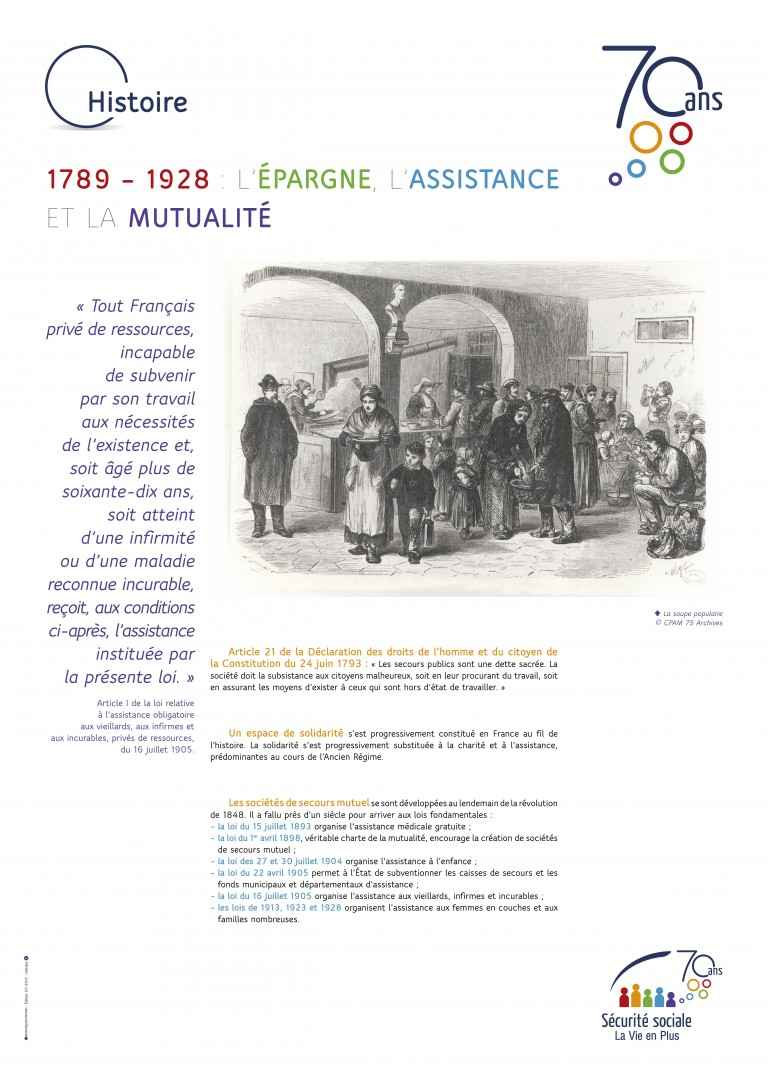 Affiche 70 ans Sécurité sociale – Chromatiques